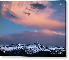 Acrylic Print featuring the photograph Evening Clouds Sneffels Range by The Forests Edge Photography - Diane Sandoval