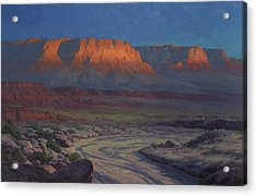 Evening Comes To Marble Canyon Acrylic Print