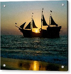 Evening Cruise Acrylic Print by Brent Easley