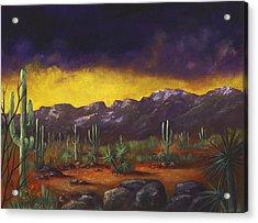Evening Desert Acrylic Print by Anastasiya Malakhova