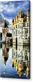 Evening Falls At The Castle Acrylic Print