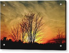 Acrylic Print featuring the photograph Evening Fire by Bruce Patrick Smith