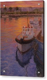 Evening Gisbourne Harbour Acrylic Print by Terry Perham