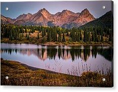 Evening Glow At Molas Lake Acrylic Print