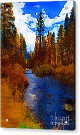 Evening Hatch On The Metolius Painting Acrylic Print by Diane E Berry