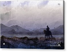 Evening Horseback Ride Acrylic Print
