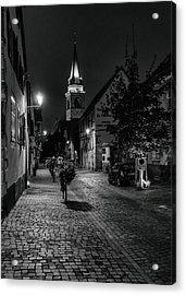 Evening In Bergheim Acrylic Print by Alan Toepfer