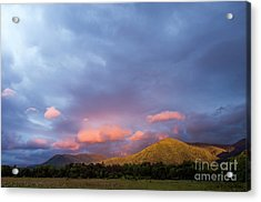 Acrylic Print featuring the photograph Evening In Cades Cove - D009913 by Daniel Dempster