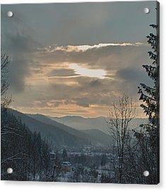 Evening In Carpathians. Sheshory, 2010. Acrylic Print