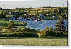 Acrylic Print featuring the photograph Evening In French River, Pei. by Rob Huntley