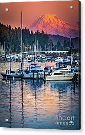 Evening In Gig Harbor Acrylic Print