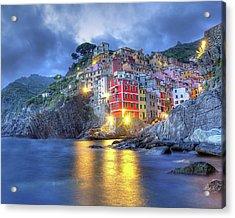 Evening In Riomaggiore Acrylic Print