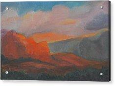 Evening In Sedona Acrylic Print by Stephanie Allison