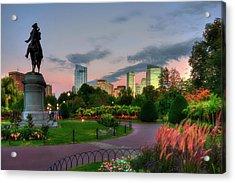 Evening In The Boston Public Garden  Acrylic Print