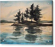 Evening Island Acrylic Print