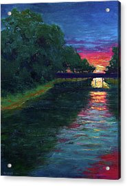 Evening, Lagan Lake Reflections Acrylic Print by Vernon Reinike