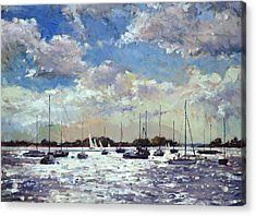 Evening Light - Gulf Of Morbihan Acrylic Print by Christopher Glanville