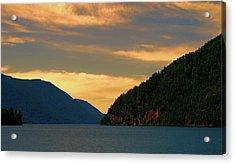 Evening Light At Lake Crescent Acrylic Print