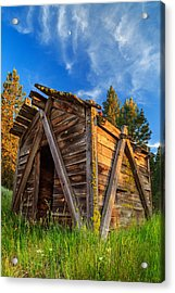 Evening Light On An Old Cabin Acrylic Print by James Eddy