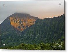 Evening Light On Ko'olau Mountains Acrylic Print