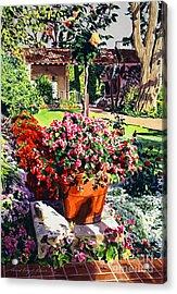 Evening Light Santa Barbara Biltmore Acrylic Print by David Lloyd Glover