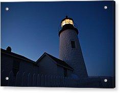Evening Lighthouse Pemequid Point Me Acrylic Print by Richard Danek