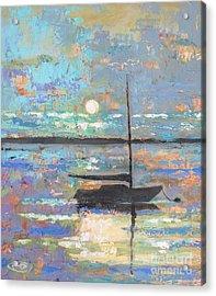 Evening Moon Acrylic Print by Kip Decker