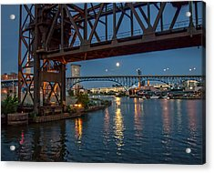 Evening On The Cuyahoga River Acrylic Print