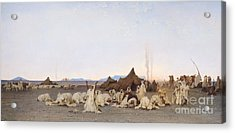 Evening Prayer In The Sahara Acrylic Print by Gustave Guillaumet