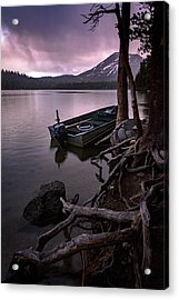 Evening Rain At Lake Mary Acrylic Print by Cat Connor