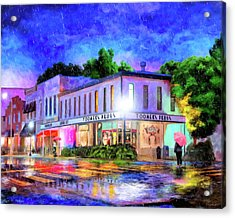Evening Rain In Auburn Acrylic Print