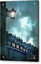 Acrylic Print featuring the photograph Evening Rainstorm In The City by Jill Battaglia