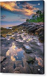 Evening Reflection, Bristol, Maine Acrylic Print by Rick Berk