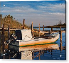 Acrylic Print featuring the painting Evening Rest by Rick McKinney