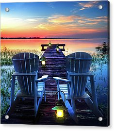 Acrylic Print featuring the photograph Evening Romance by Debra and Dave Vanderlaan