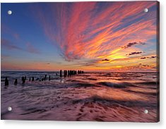 Acrylic Print featuring the photograph Evening Rush by Mike Lang
