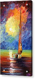 Evening Sail Acrylic Print by Ash Hussein