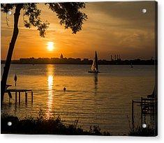 Evening Sail - Madison - Wisconsin Acrylic Print