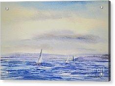 Evening Sail On Little Narragansett Bay Acrylic Print by Joan Hartenstein