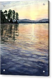 Evening Shades Acrylic Print by Lane Owen