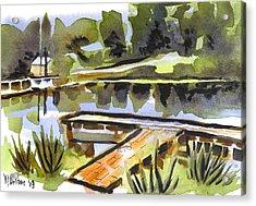 Evening Shadows At Shepherd Mountain Lake Acrylic Print