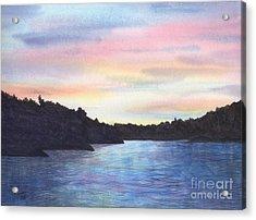 Evening Silhouette Acrylic Print