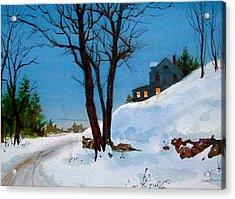 Evening Snow Acrylic Print by Faye Ziegler