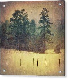 Evening Snow Glow Acrylic Print