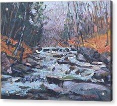 Evening Spillway Acrylic Print by Alicia Drakiotes