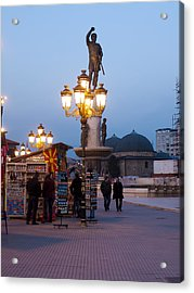 Evening Stroll In Skopje Acrylic Print by Rae Tucker