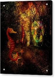Evening Stroll Acrylic Print by Mimulux patricia no No