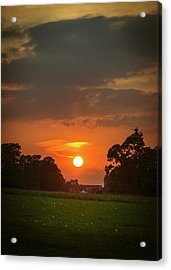 Evening Sun Over Picnic Acrylic Print