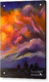 Acrylic Print featuring the painting Evening Symphony by Alison Caltrider