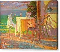 Evening Terrace Acrylic Print by William Ireland